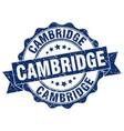 cambridge round ribbon seal vector image vector image