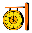 clock icon cartoon vector image vector image