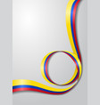 colombian flag wavy background vector image vector image