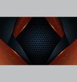 dark black wood abstract background design vector image vector image