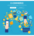 E-commerce Online Shop Webpage Design vector image vector image