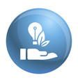 eco bulb care hand icon simple style vector image vector image