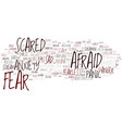 fear word cloud concept vector image vector image