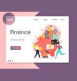 finance website landing page design vector image