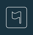 flag icon line symbol premium quality isolated vector image