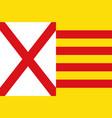 flag of lhospitalet de llobregat of barcelona in vector image vector image