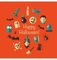 flat design Halloween composition vector image vector image
