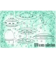 Flying Saucer Spaceship And UFO Set vector image vector image