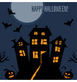 happy halloween dark postcard vector image vector image