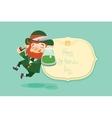 Happy Saint Patrick Day gratters Leprechaun vector image vector image