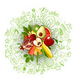 healthy lifestyle concept with sport and healthy vector image vector image