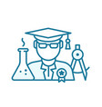higher education graduate bachelor degree young vector image vector image