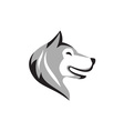Husky Dog Head Retro vector image