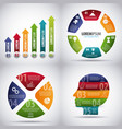 infographics diagrams chart vector image vector image