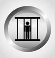 justice icon vector image vector image
