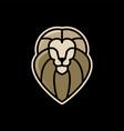 lion e sport logo icon vector image