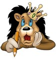 Lion with Pencil vector image vector image