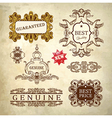 luxury premium quality and guarantee label vector image vector image