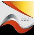 Orange paper background overlap dimension i vector image vector image