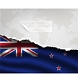 paper with hole and shadows NEW ZEALAND flag vector image vector image