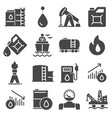 petrol icons set oil pump and petrol icon with vector image vector image