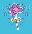 pixelated flower videogame character vector image vector image