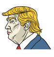 portrait of donald trump the us president vector image vector image