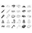 rest in the camping monochromeoutline icons in vector image