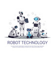robot technology flat composition vector image vector image