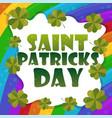 saint patricks day card design - rainbow vector image