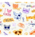 Seamless pattern with cats and dogs Funy vector image vector image