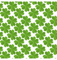 seamless texture with flat lucky four-leaf clover vector image vector image