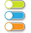 Set 1 of circle and cylinder labels vector image