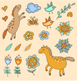 Set of doodle design elements vector image vector image