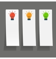 Set of simple icons flat color light bulbs vector image vector image