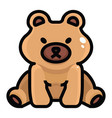 teddy bear on white background vector image vector image
