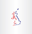 united kingdom stylized icon map vector image