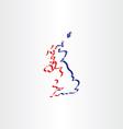 united kingdom stylized icon map vector image vector image