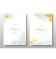 watercolor hand painted floral invitation card vector image vector image