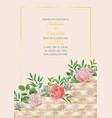 wedding invitation with geometric elemetns vector image vector image
