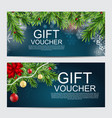 winter christmas new year gift voucher template vector image vector image