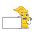 with board fusilli pasta character cartoon vector image vector image