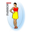 young fashion woman silhouette vector image vector image