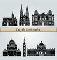 zagreb landmarks vector image vector image