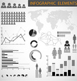 Black and white set of Infographic elements vector image
