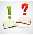 books and characters or vector image