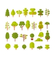 a set isolated trees and shrubs vector image