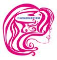 hairdresser salon logo vector image