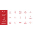 15 member icons vector image vector image