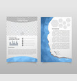 abstract template design brochure web sites vector image vector image